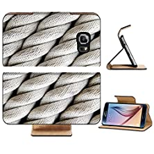 buy Samsung Galaxy S6 Flip Wallet Case Liili Premium A Background Of Twisted Nautical Rope Image Id 14596013