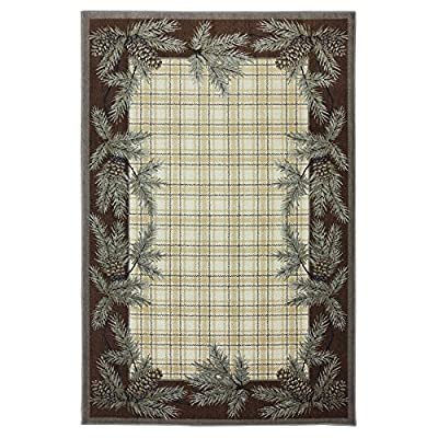 Mohawk Home Madison Pine Cone Plaid Woven Rug