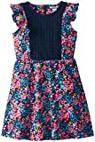 Hartstrings Big Girls' Floral Print Cotton Spandex Dress