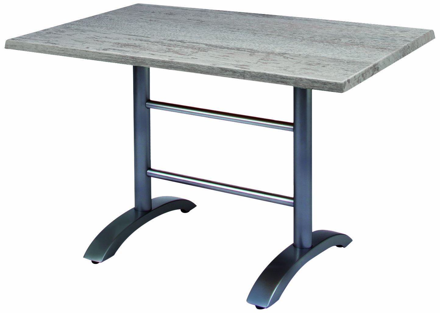 BEST 43541589 Tisch Maestro rechteckig 120 x 80 cm, anthrazit / Montpellier