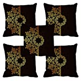 meSleep Style Flowers FaceCushion Cover (16x16) Set of 5