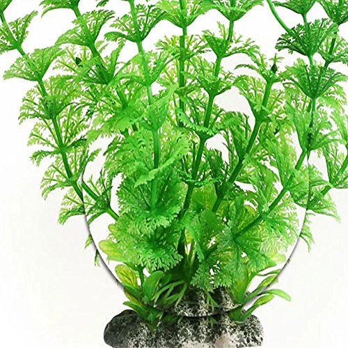 High Artificial Plastic Water Plant for Aquarium Decoration Fish Tank Ornament Green set13