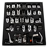 Mcupper-32pcs Domestic Sewing Machine Presser Foot Set For Janome Brother Singer NewHome