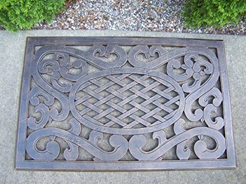 Oakland Living Mississippi Cast Aluminum Doormat, Antique Bronze (Aluminum Door Mat compare prices)