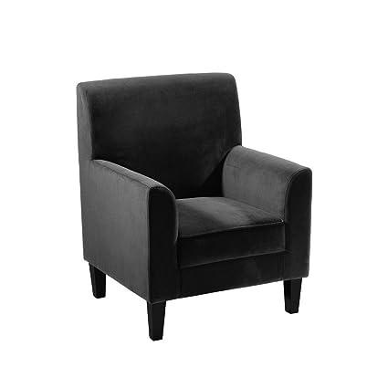 Protege Homeware Black Velvet Medan Chair