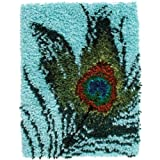 Spinrite CottonPolyester blend Wonderart Latch Hook Kit Peacock Feather