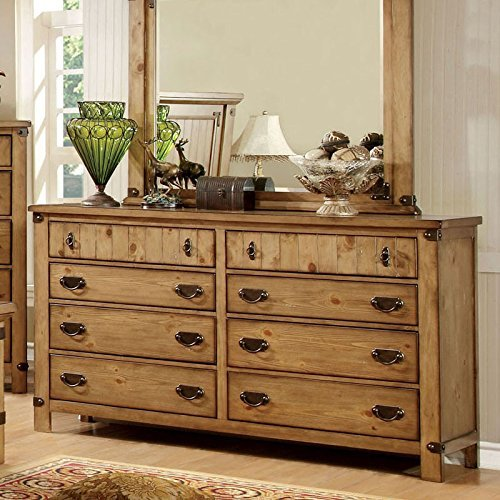 247SHOPATHOME IDF-7449EK-6PC Bedroom Set, King, Weathered