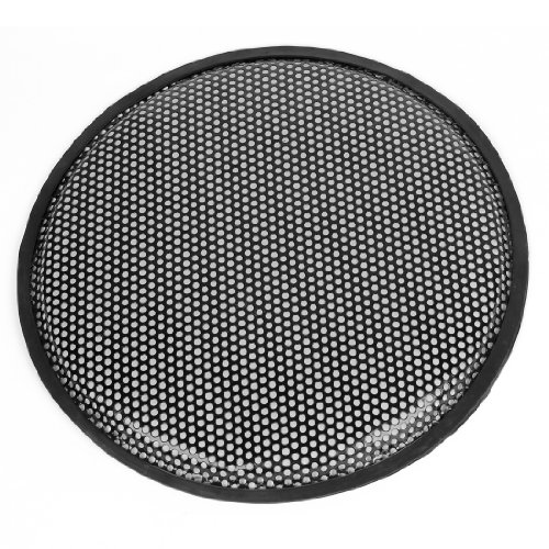 Metal Mesh Round Car Woofer Cover Speaker Subwoofer Grill Black 31Cm