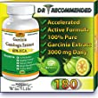 WiseLifeNaturals Fat Burner & Total Appetite Control, Number One Weight Loss Formula, Dr Recommended, 180 Caps, with Pure Garcinia Cambogia Extract, 1500 mg - 3000mg Daily, Ranked Best Formula of all Diet Pill Kits That Works