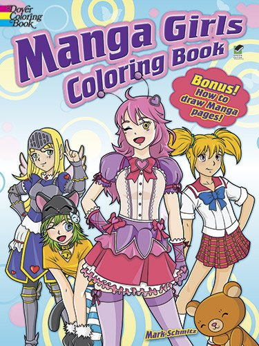 Manga Girls Coloring Book (Dover Coloring Books)