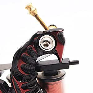 Artistry Fire Red Cast Iron Liner and Shader Coffin Tattoo Machine