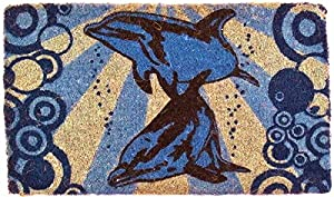 "CocoMatsNMore Dolphins Underwater Design Coco Doormats - 18"" X 30"""