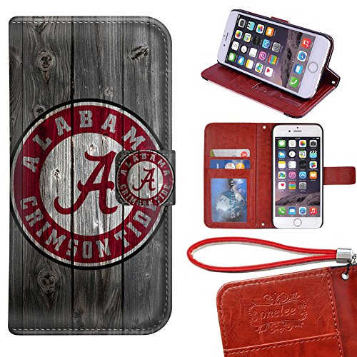 iPhone 6 Wallet Case[4.7 inch], Onelee - Alabama Crimson Tide Premium PU Leather Case Wallet Flip Stand Case Cover for iPhone 6 with Card Slots