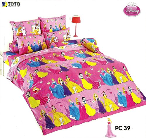 Disney Princess Bedding In Bag Set ; 1 Four Season Comforter With 4 Pieces Of Bed Fitted Sheet Set (King Size, Pc39) front-839066