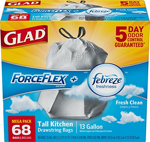 glad-forceflex-odorshield-tall-kitchen-drawstring-trash-bags-fresh-clean-13-gallon-68-count-by-glad