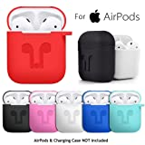 WensLTD Clearance! for AirPods Silicone Case Cover Protective Skin for Apple Airpod Charging Case (Red) (Color: Red, Tamaño: standard)