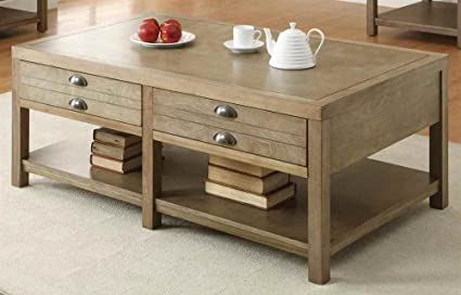 Coaster Home Furnishings Casual Coffee Table, Light Oak
