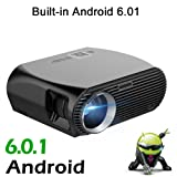 NewPal GP100up Projector 3500 Lumen LED Projector With Android 6.01 WIFI Bluetooth Home Theater Beamer Support Miracast Airplay