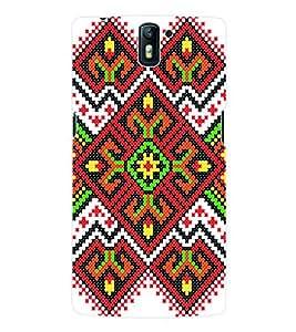 Fuson 3D Printed Pattern Designer Back Case Cover for OnePlus One - D1014