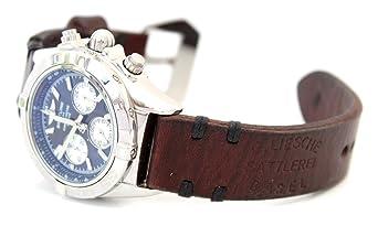 Vintage Ammo Handgefertigte Stil Leder 22mm Basel Uhrenarmband gb7yf6Y
