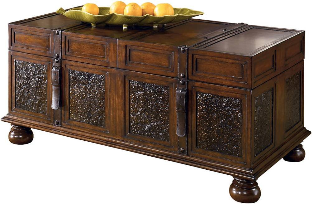 Signature Design by Ashley McKenna Cocktail Table with Storage, Dark Brown 0