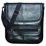 #10: Style98 100% Pure Leather Handmade Stitched Unisex Messenger Tablet Bag for Men,Women,Boys & Girls