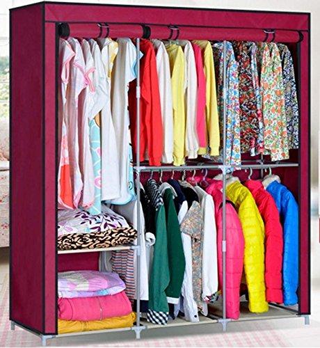 63-portable-closet-storage-organizer-w-shelves-wardrobe-clothes-rack-wine-red