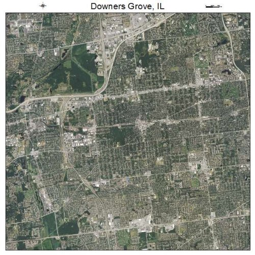 Aerial Photography Map of Downers Grove, Illinois