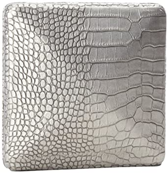 Lauren Merkin Zoe OM3S327 Clutch,Pewter Metal Crocodile,One Size