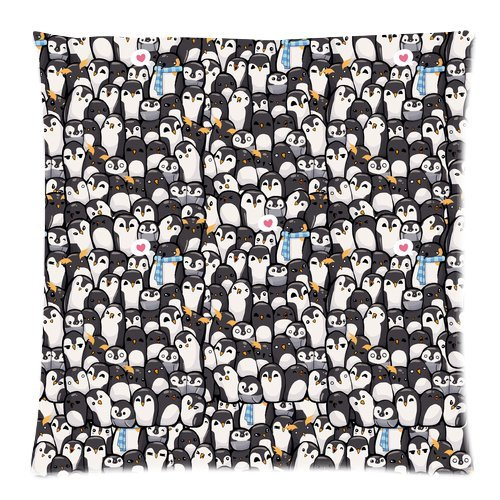 """Cartoon Penguins Family Picture Custom Zippered Pillow Cushion Case Throw Pillow Covers 20""""X20""""(Two Sides) front-962336"""