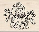 Inkadinkado Wood Stamp, Snowman