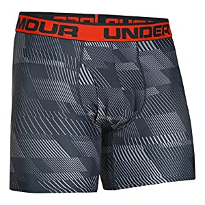 Under Armour Men's The Original 6-inch Printed Boxerjock Boxer Brief, Steel/Anthracite/Volcano, 2XLarge
