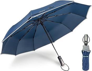 Ace Teah Windproof Auto Open Close Travel Umbrella
