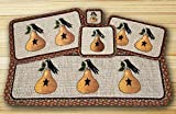 Earth Rugs Pear and Crow Design Rectangle Wicker Weave Placemat, 13 by 19