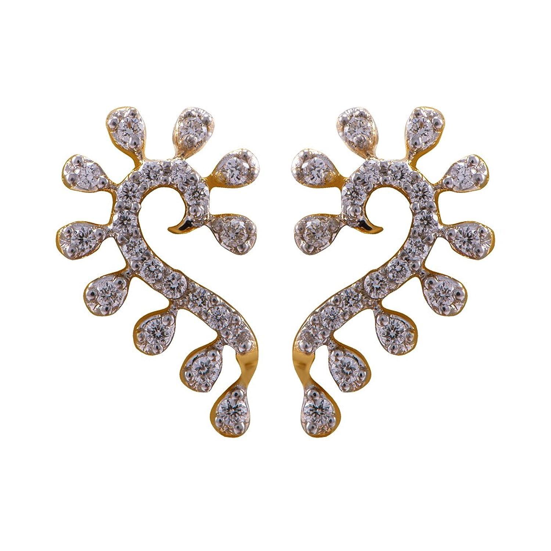 Flat 30% Off On Jewelry By Amazon | Joyalukkas 18k Yellow Gold and Diamond Stud Earrings @ Rs.23,216