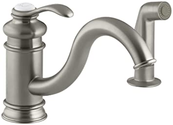 KOHLER K-12176-BN Fairfax Single Control Kitchen Sink Faucet, Vibrant Brushed Nickel