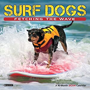 Orange Circle Studio 2014 Wall Calendar, Surf Dogs: Fetching the Wave (51111)