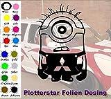 Minion 1 Mitsubishi Hater Domo Bitch Race Power PS JDm Sticker OEM Fun Aufkleber Hater