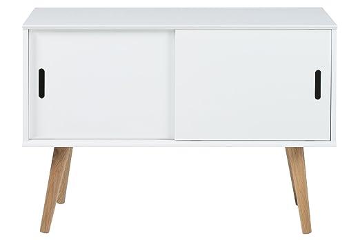 AC Design Furniture 60602 Anrichte Mariela, Turen 2 Stuck, 100 x 38 x 69,5 cm, Holz, weiß