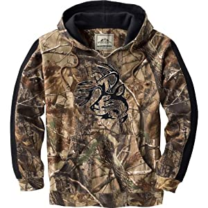 Legendary Whitetails Mens Realtree Camo Casual V-Neck Outfitter Hoodie by Legendary Whitetails