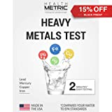 Lead Iron Copper and Mercury - Home Water Test Kit for Well Tap and Drinking Water   Fast & Accurate Quality Testing to EPA standards   Easy to Use and Sensitive Tester Strips Made in USA