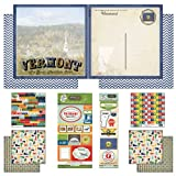 Scrapbook Customs Themed Paper and Stickers Scrapbook Kit, Vermont Vintage
