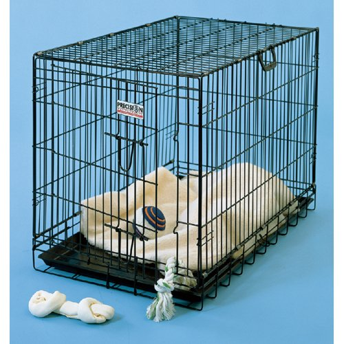 Precision Pet 2-Door Dog Crate 19X12X15 Black front-996255