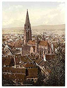 The Munster Freiburg Baden A3 Box Canvas Print
