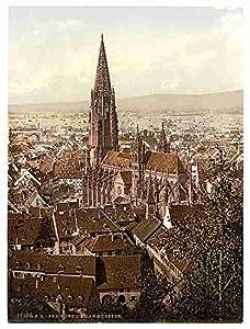 The Munster Freiburg Baden A3 Box Canvas Print