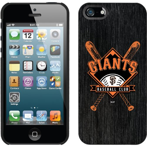 Best Price San Francisco Giants - Bats design on a Black iPhone 5 Thinshield Snap-On Case by Coveroo