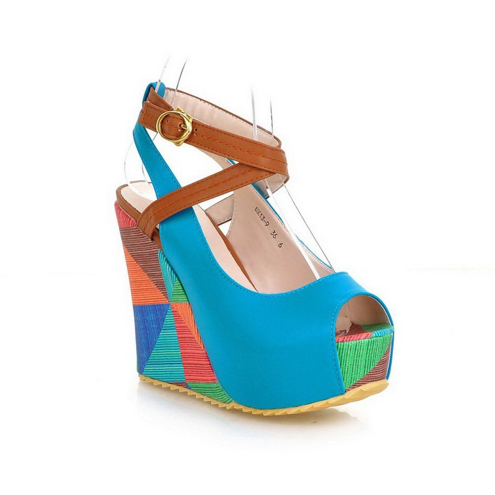 High Heel Open Peep Toes Platform Wedge