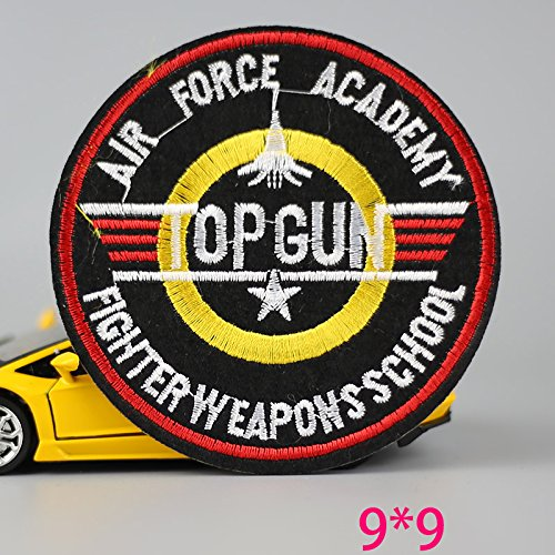 [FairyMotion Hot Sale 1Pc Fashion Top Gun Iron On Embroidered Patch For Cloth Cartoon Badge Garment Appliques Diy Accessory Perfect] (Top Gun Womens Bomber Jacket Costume)