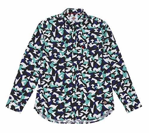 (ディッキーズ)DICKIES 総柄綿ブロード長袖シャツ 151M20WD03 GR グリーン M