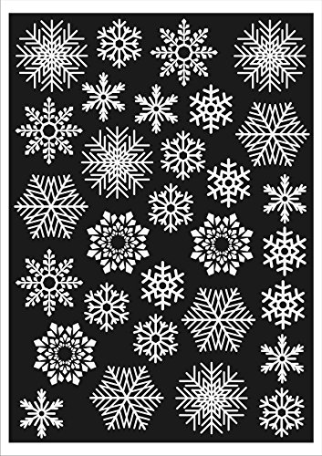 christmas-window-decorations-60-snowflakes-static-cling-stickers-fast-dispatch-and-free-delivery